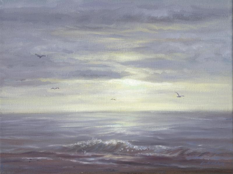 Realistische Landschaftsmalerei: Stürmische See