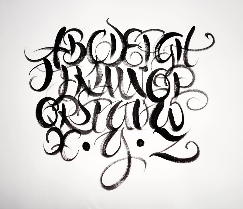 Pinsel in der Kalligrafie