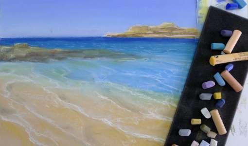 Meer und Wellen in Pastell